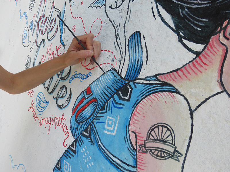 Mural - Magda Kościańska, Magic Suitcase, fot. M. Kościańska
